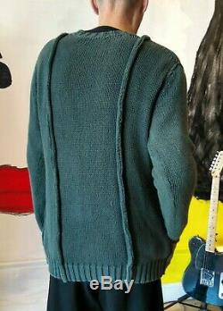 Vintage Oversize Yohji Yamamoto Y's Sage Green Cable Knit Sweater, Japan