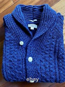 Wallace & Barnes Mens Cardigan Cable Knit Shawl Collar J Crew Size Large NWOT