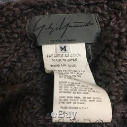 Yohji Yamamoto POUR HOMME Men's Cable Knit Tops Pullover Size M